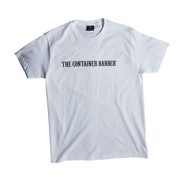 The Container Barber -  White - T-Shirt